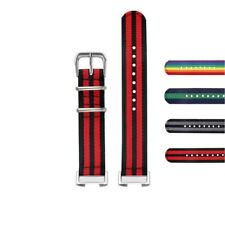 StrapsCo Striped Nylon Replacement Watch Band Strap for Fitbit Charge 4