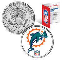 MIAMI DOLPHINS NFL JFK Kennedy Half Dollar US Coin *Officially Licensed*