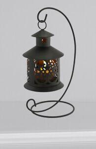 Flameless Led Tealight Hanging Black metal Lantern Home Decor