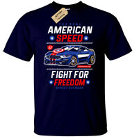 American Speed T-Shirt Mens league America Captain usa Justice