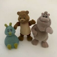 Teddy Ruxpin Figure Lot of 3 80s 1986 Alchemy Wooly Flocked Bounder World Wonder