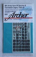 Archer 1/35 British 8th Army AOS & Formation Signs 1940-1942 #3 (6mm) AR35069.6