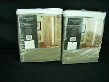 "CLOVER LANE 84"" Austin Thermal Room Darkening Window Panel Faux Suede Lot of 2"