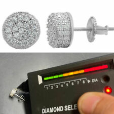 Реальный 925 серебряный круглые серьги 2.6 кар муассанита проходит Тестер алмазов шпильки со льдом