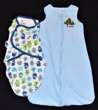 Lot 2 0-9m Baby Blankets Wraps Sacks Summer Swaddle Me Monster Small Garanimals