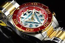 "Invicta Men 48mm Limited Ed Marvel ""IronMan"" Tony Stark Chrono Gold Red SS Watch"