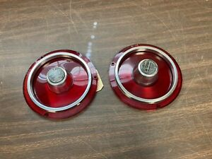 1962 FORD GALAXIE 500 XL TAIL LIGHT BACK UP LAMP LENSES PAIR NORS GLO BRITE 820