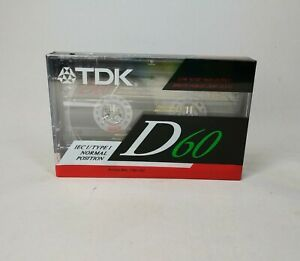 NEW Sealed TDK D60 High Output BLANK Cassette Tapes Audio Type I