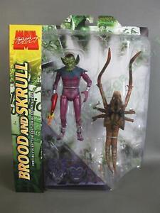 Marvel Diamond Select Brood and Skrull 2 Pack Figure Set Fantastic Four XMen NR