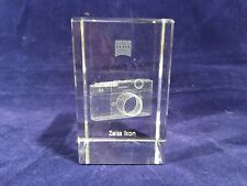 Carl Zeiss IKON Camera Laser Etched Cube / Paperweight