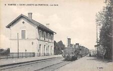 CPA 44 SAINT JOSEPH DE PORTRICQ LA GARE (TRAIN EN GARE