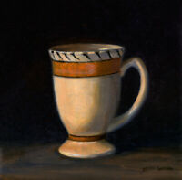 "Cup Still Life Oil Painting 6""x6"" by Jeff Ward"