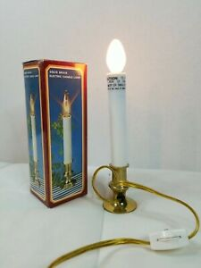 Vintage Solid Brass Electric Candle Lamp Christmas decoration in box