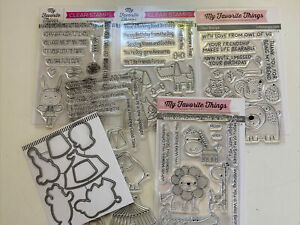 New! Lot of 5 My Favorite Things Stamp Sets: Circus-Dogs-Wildlife-Zoo + Dies