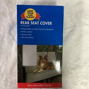 """Pet Seat Cover Rear Bench Gray Water Resistant 56"""" X 46"""""""