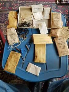 Assorted Lot of Vintage Gilbert American Flyer Parts Envelopes & Clips