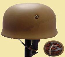 WWII German Fallschirmjager M38 Steel Helmet With Leather Liner Mud – GM035