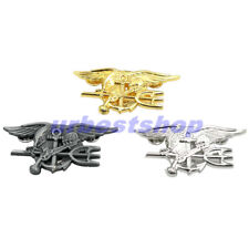 US NAVY SEAL EAGLE ANCHOR TRIDENT METAL BADGE INSIGNIA 3 Color Collection