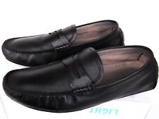 $86 BANANA REPUBLIC Mens Sz.9.5 black leather driving slip on loafers moc shoes