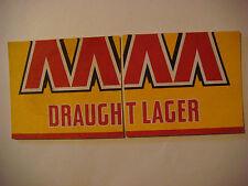 2 Beer COASTERs ~ Lion Nathan CASTLEMAINE XXXX Draught Lager ~ Milton, AUSTRALIA