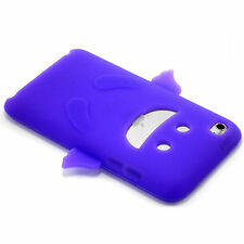 New Purple Happy Angel Design Silicone Soft Case iPod Touch 4th Gen 4 Generation