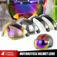 Pilot-Style Motorcycle Helmet 3-Snap Visor Half Open Face Wind Shield Flip Up