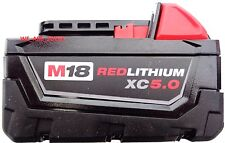 (1) New 18V Milwaukee 48-11-1850 5.0 AH Battery M18 18 Volt XC 5.0 Red Lithium