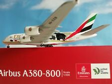 """532723  Emirates Airbus A380 """"United for Wildlife"""" (No.2) Herpa Wings 1:500"""