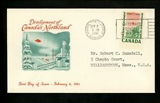 Postal History Canada Fdc #391 Unknown Northern Development 1961
