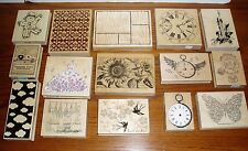 Lot 15 Large Wood Rubber Stamps Darcie's Penny Black Hero Arts Price Reduced!