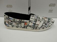 Toms Mens Classic Canvas White Star Wars AT-AT Print Size 11.5