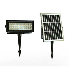 Solar Multi Colour 1000 Lumens IP65 44 SMD LEDs Continuous Flood Light +6W Panel