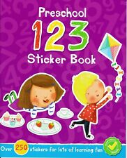 NEW Preschool 123 Numbers Book with 250 Stickers Early Learning Education Kids