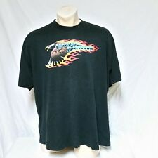 VTG 1989 Harley Davidson T 80s Tee Double Sided Flames Truck Stop Biker XXL 2XL