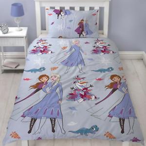Frozen 2 Single Duvet Bedding Set Anna Elsa Disney Girls Pillow Official