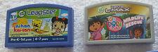 3 Leap Frog Leapster Learning Game Cartridges (Disney Fairies, Dora, Kai-lan)
