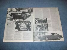 "1974 Mercury Capri Vintage Sleeper Article ""Z-Capri"" Chevy Powered"