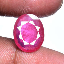 7.00 Carats Certified Rare Natural Red Mozambique Finest Ruby Gemstone For Ring