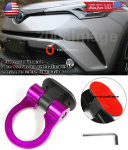 Purple Plastic Tape on Adjustable Decoration Tow Hook Ring For VW Porsche Audi