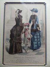 3ce1f1cfa7 Journal Des Demoiselles 1883 Colour Lithograph Paris (Female 19th C Fashion
