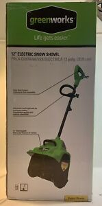 GREENWORKS 12 INCH ELECTRIC SNOW SHOVEL BRAND BEW IN BOX GREEN TOOL