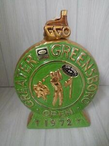 Vintage 1972 Greater Greensboro Open GGO Golf Ezra Brooks Alcohol Decanter11 1/2