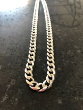 Chunky Silver Necklace Kerb Curb Chain 24in 59g Italian Mens Heavy Hallmarked
