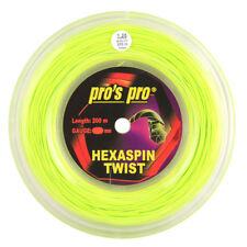 PRO'S PRO hexaspin Twist - 1.25mm - Lime-TENNIS-string-REEL - 200m