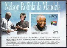 Gabon, 2008 Cinderella issue. Nelson Mandela, IMPERF s/sheet.