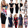 Women Ladies Formal Business Office Wear To Work Evening Party Pencil Midi Dress