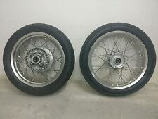 Triumph Thruxton 2013 front and rear wheels with tyres