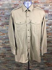 British Army Khaki  Long Sleeve Shirt Size Collar - 39
