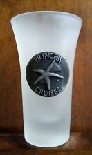 PRINCESS CRUISE LINE  FROSTED SHOT GLASS  with PEWTER STAR