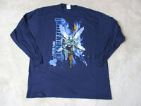 NEW Linkin Park Reanimation Concert Shirt Adult Large Blue Band Tour Rock Mens